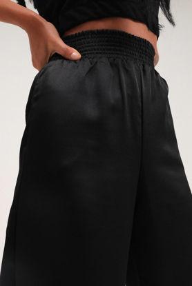 Beli Lastikli Saten Pantolon Siyah resmi